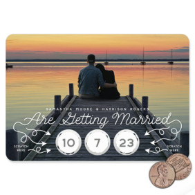 Sweet Spot 1 Scratch Off Save The Date Magnet