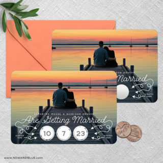 Sweet Spot Scratch Off Save The Date Magnets 06 Shown With Optional Color Envelope