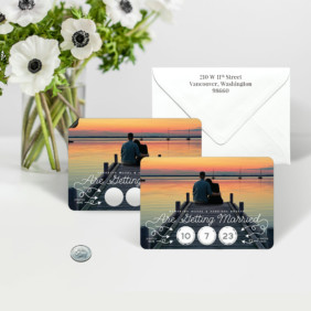 Sweet Spot Scratch Off Save The Date Magnets 12 Shown With Optional Envelope Printing