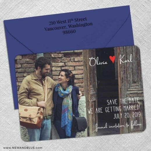 Sydney 5 Save The Date With Optional Color Envelope