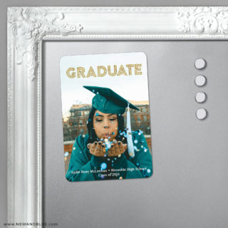 Tassel 5 Foil Save The Date Fridge Magnet