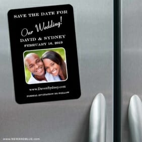 The Big Day 3 Refrigerator Save The Date Magnets