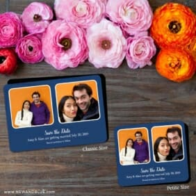 These Two 2 Save The Date Magnet Classic And Petite Size