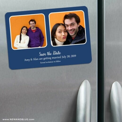 These Two 3 Refrigerator Save The Date Magnets