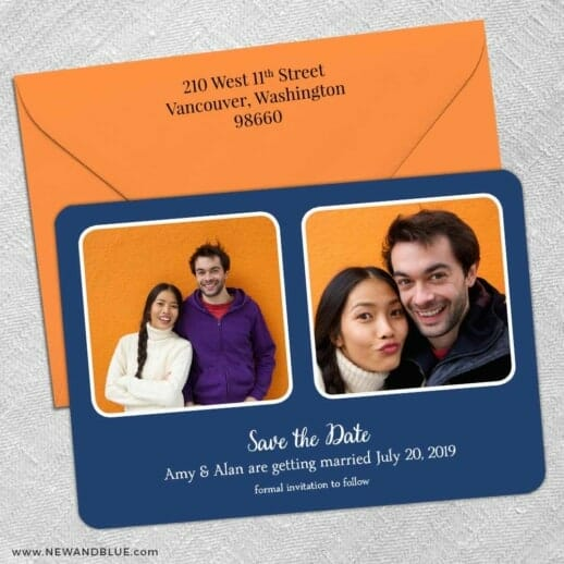 These Two 5 Save The Date With Optional Color Envelope