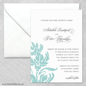 Thistle 2 Invitation And Envelope