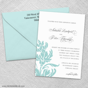 Thistle 3 Invitation And Color Envelope