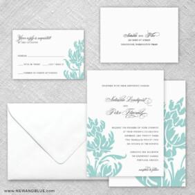 Thistle 5 Wedding Invitation And Rsvp Card