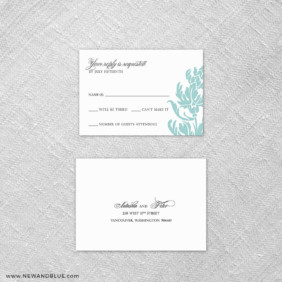 Thistle 6 Reception Card And Rsvp Card