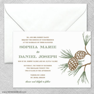 Timberline 2 Invitation And Envelope