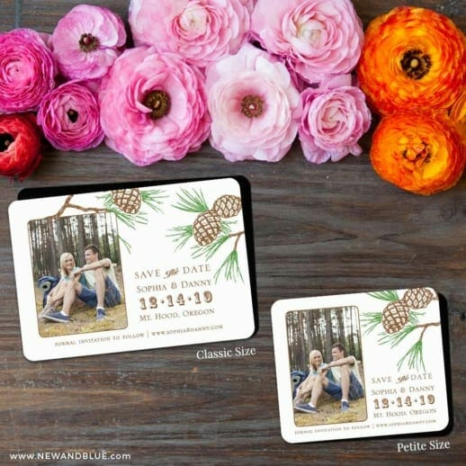 Timberline 2 Save The Date Magnet Classic And Petite Size