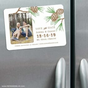 Timberline 3 Refrigerator Save The Date Magnets