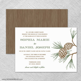 Timberline 4 Invitation Shown With Back Printing