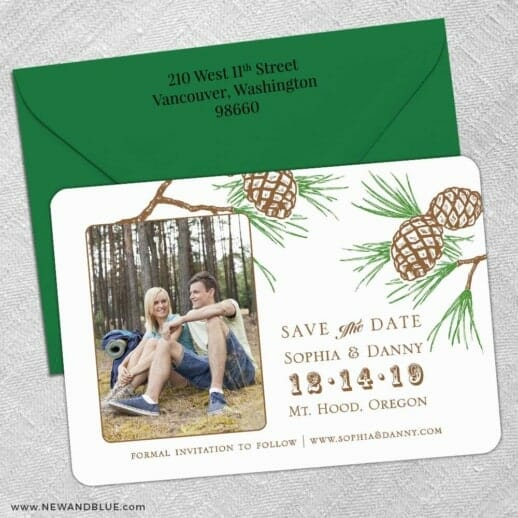 Timberline 5 Save The Date With Optional Color Envelope