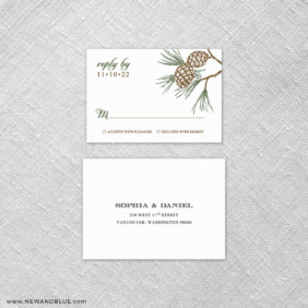 Timberline 6 Reception Card And Rsvp Card