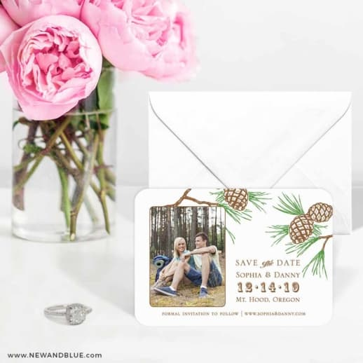 Timberline 6 Wedding Save The Date Magnets