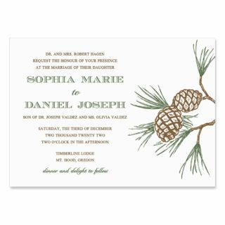 Timberline Wedding Invitation