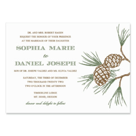 Timberline Wedding Invitation