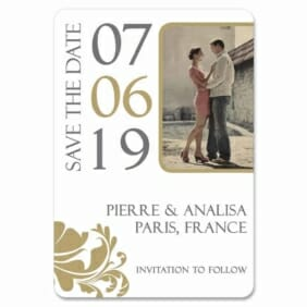 Timeless Romance 1 Save The Date Magnets