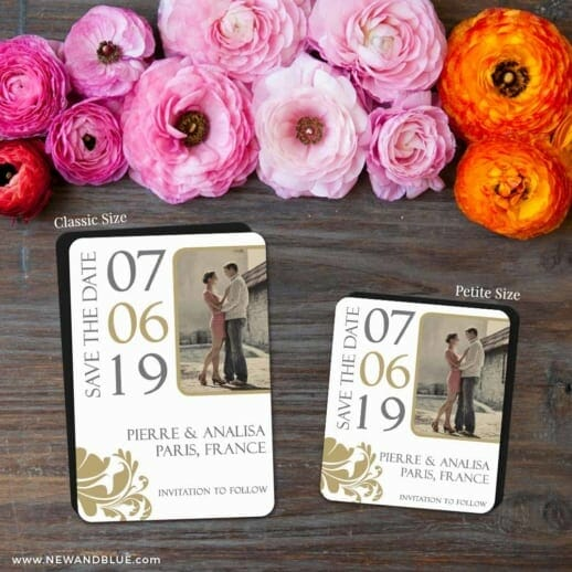Timeless Romance 2 Save The Date Magnet Classic And Petite Size