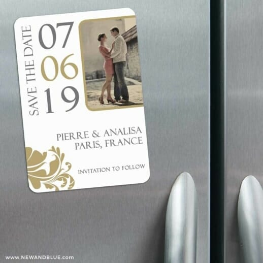 Timeless Romance 3 Refrigerator Save The Date Magnets
