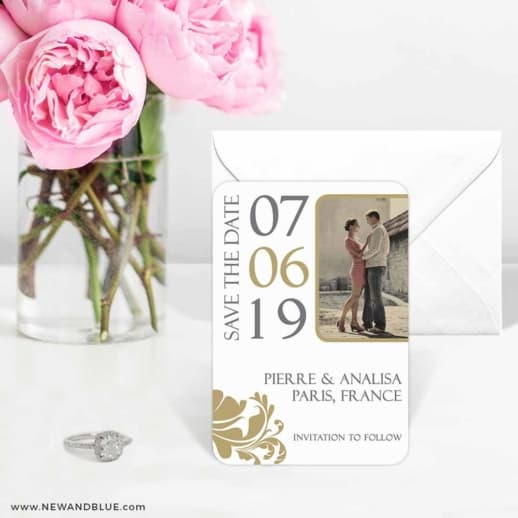 Timeless Romance 6 Wedding Save The Date Magnets