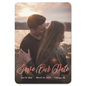 Together Forever 1 Foil Save The Date Magnets
