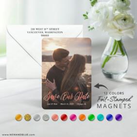 Together Forever 7 Foil Wedding Save The Date Magnet
