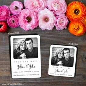 Tribeca 2 Save The Date Magnet Classic And Petite Size
