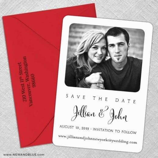 Tribeca 5 Save The Date With Optional Color Envelope