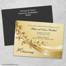 Triumph 3 Invitation And Color Envelope