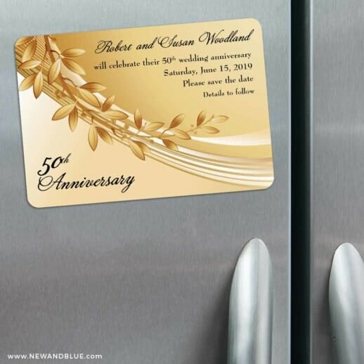 Triumph 3 Refrigerator Save The Date Magnets