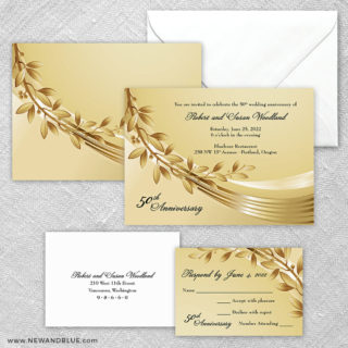 Triumph 5 Wedding Invitation And Rsvp Card