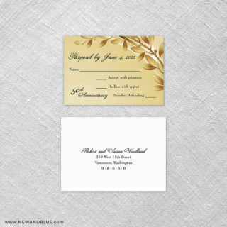 Triumph 6 Reception Card And Rsvp Card