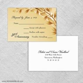 Triumph Rsvp Card And Envelope