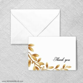 Triumph Thank You Card And Envelope