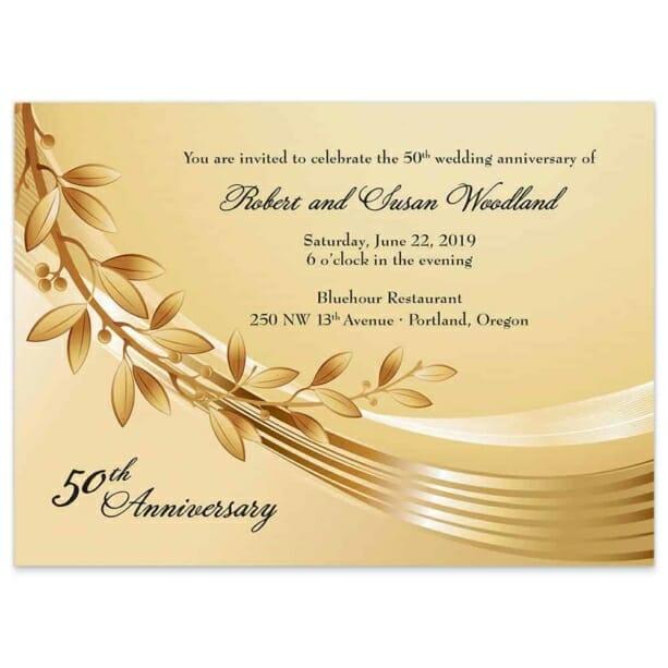 Triumph Wedding Invitation Gold