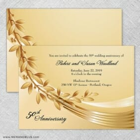 Triumph Wedding Invitation With Back Printing