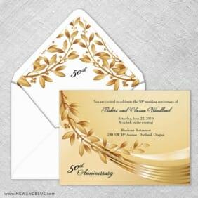 Triumph Wedding Invitation With Envelope Liner