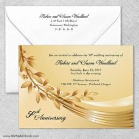Triumph Wedding Invitation With Envelope1