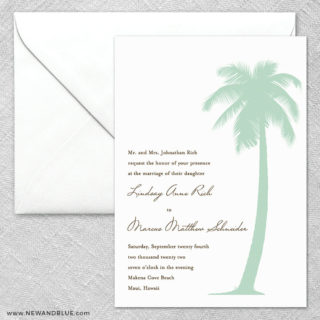 Tropical Breeze 2 Invitation And Envelope