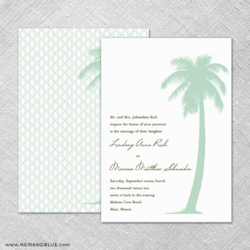 Tropical Breeze 4 Invitation Shown With Back Printing