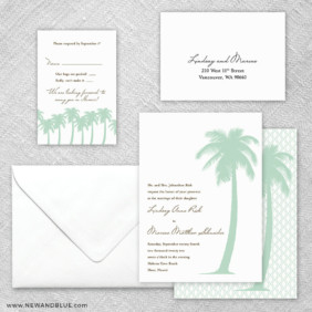 Tropical Breeze 5 Wedding Invitation And Rsvp Card