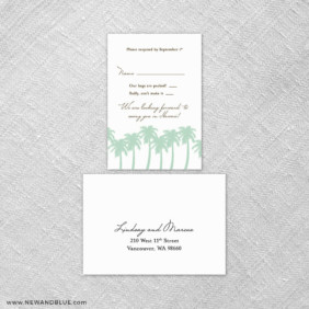 Tropical Breeze 6 Reception Card And Rsvp Card
