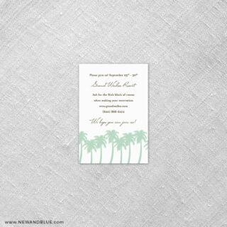 Tropical Breeze 7 Reception Card
