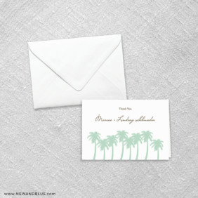 Tropical Breeze 8 Thank You Card