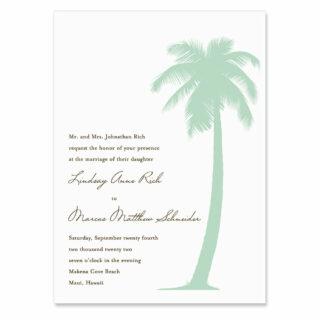 Tropical Breeze Invitation Shown In Color Green