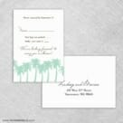 Tropical Breeze Rsvp Card And Envelope