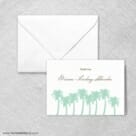 Tropical Breeze Thank You Card And Envelope