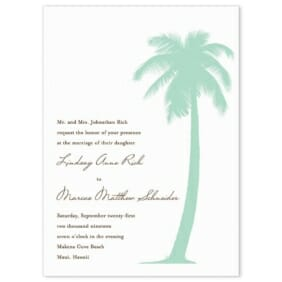Tropical Breeze Wedding Invitation